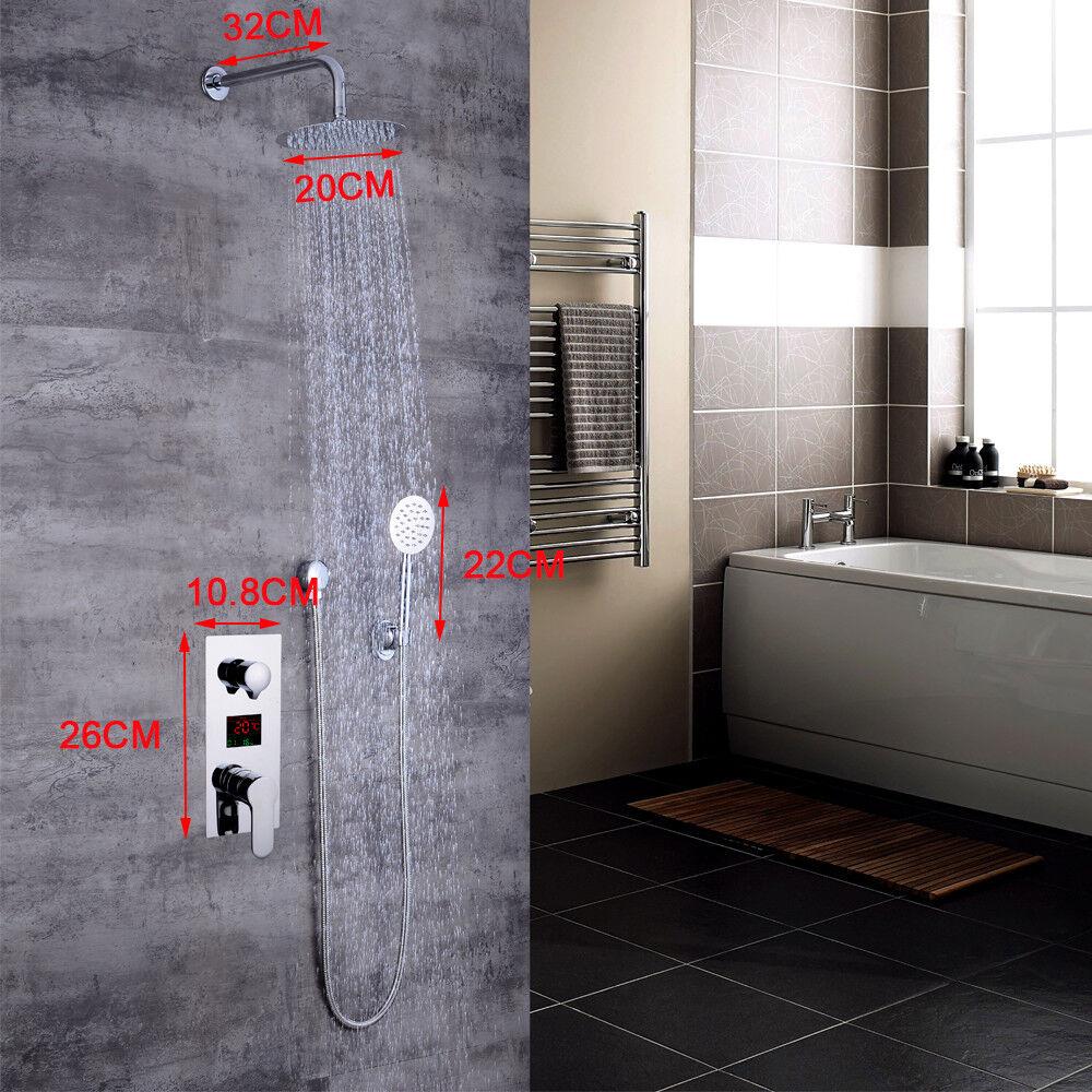 2 tipos de chorro Baño Columna de Ducha Termostática Mezclador de Ducha