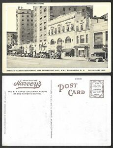 Old-Postcard-Washington-DC-Harvey-039-s-Famous-Restaurant