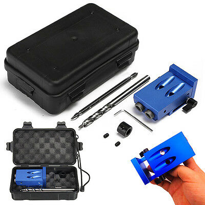 HIGH QUALITY Mini Kreg Style Pocket Hole Drill Jig Kit With Step Drilling Bit W