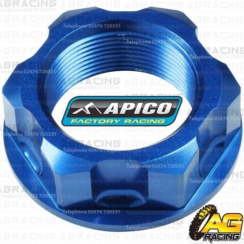 Apico Blue Headstock Steering Stem Nut For Yamaha YZ 85 LW 2018