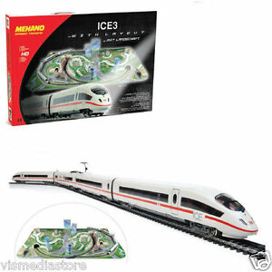 Mehano-TGV-ICE-3-With-Scenic-Layout-2-x-Locomotives-2-Cars-Starter-Pack-HO-Train