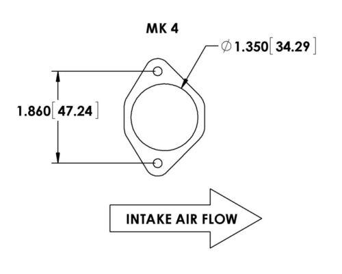 2.75 OD MAF Mass Air Flow Housing air straightener for VW MK4 Volvo Mercedes BMW