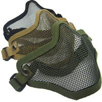 Practical Outdoor Sports Face Mask Half Lower Face Metal Steel Wire Net Mask