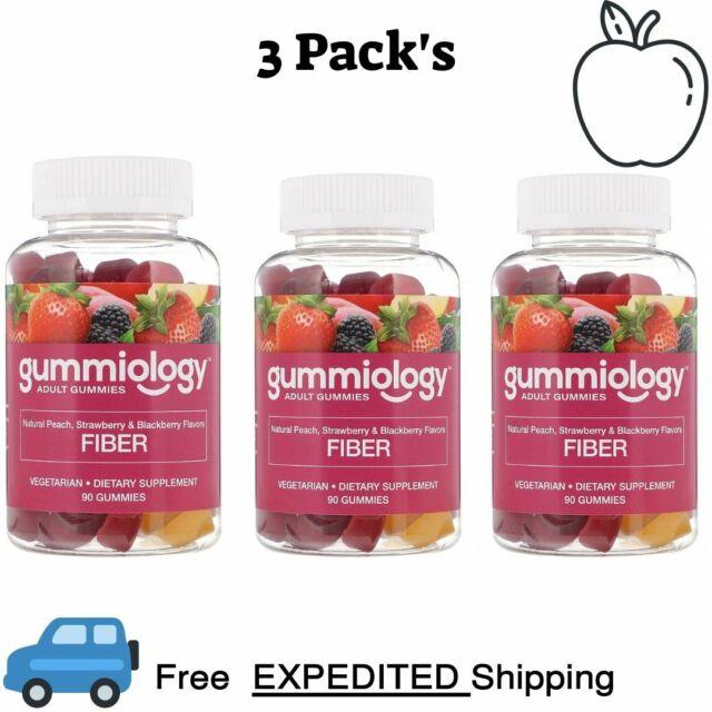 Gnc Fiber Gummy 5g Peach Strawberry Blackberry 80 Ea For Sale