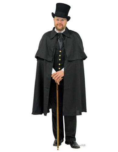 Victorian Mens Suits & Coats    Dickens Cape Mens Victorian Costume Caroling Christmas Carol Black Steampunk $39.99 AT vintagedancer.com