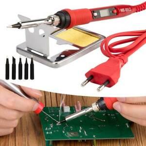 80W 220V Elektrische Lötkolben Schweißwerkzeug Hand Lötdraht diy Pinzette