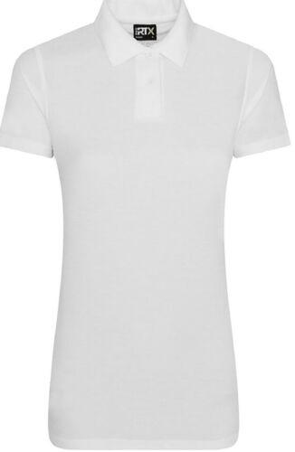 PRO RTX Ladies Short Sleeve Polyester Slim Fit Womens Plain Polo T Shirt Top New
