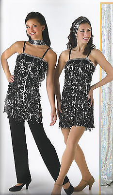 Gatsby Charleston Flapper Jazz Tap Dance Costume Halloween Child Medium Large