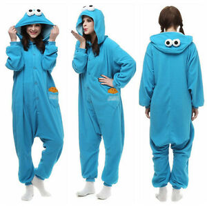 f8767b3cbabf Image is loading Blue-Sesame-Street-Elmo-Cookie-Monster-Costume-Adult-