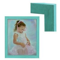 Modern Contemporary Rustic Turquoise Blue Wood Frame For Painting Photo Picture