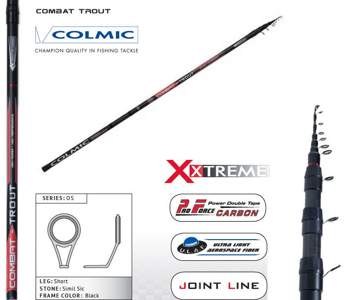 Canna Teleregolabile Colmic Combat 678 m Combat Trout Pesca Torrente    CSP