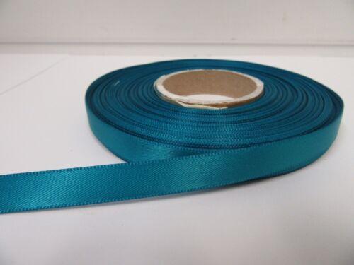 10mm Satin Ribbon 2 or 25 metre double sided Roll wedding crafts UK VAT Reg