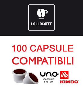 100 CIALDE CAPSULE CAFFE LOLLO MISCELA NERA UNO SYSTEM INDESIT KIMBO ILLY