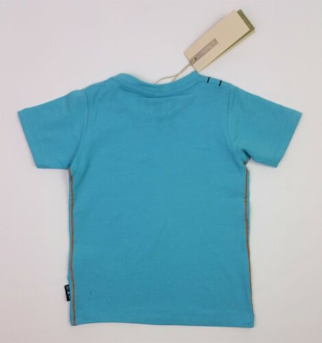 Baby Boys NAME IT Turquoise Summer ORGANIC COTTON T-Shirt 2-3 Years NEXT DAY*