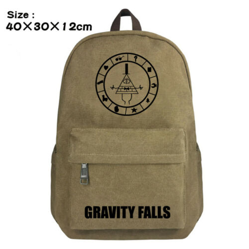 Anime Gravity Falls Canvas Zipper Backpack Ladies Fashion Travel Bags Knapsack