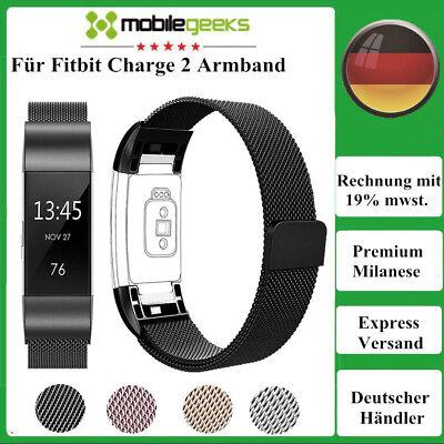 Milanaise Armband Ersatz Fitbit Charge 2 Fitness Tracker Edelstahl Milanese