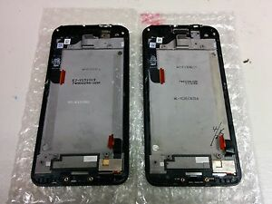 HTC-Droid-DNA-Display-Assembly-With-Frame-Cracked-Glass-Black-Lot-of-2