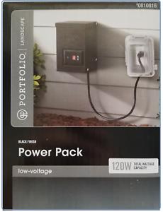 Details About Portfolio Landscape 120 Watt Low Voltage Pack Lighting Transformer Timer