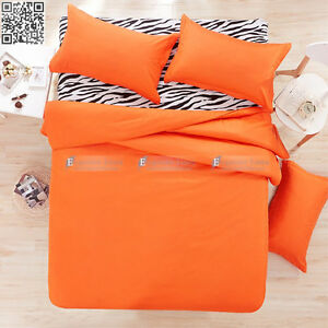 Orange Sb Double Queen King Size Bed Quilt Doona Duvet