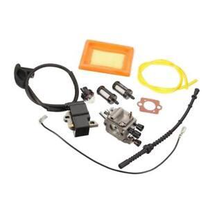 Carburatore-Bobina-Accensione-Linea-Filtro-Aria-Per-Stihl-Fs120-Fs200-Fs250