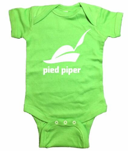 """Silicon Valley Baby One Piece /""""Pied Piper Logo/"""" Bodysuit"""