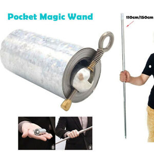 Pocket-Staff-Steel-Metal-Outdoor-Sport-Magical-Wand-Gold-Toy-1-2m-Portable-Magic