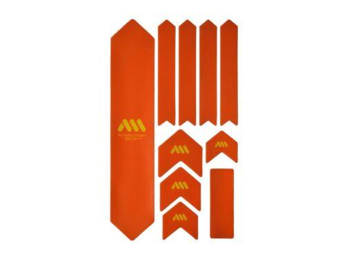 All Mountain Style AMS Frame Guard Protection Stickers XL OrangeYellow