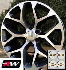 24 Inch Chevy Tahoe Factory Style Wheels Snowflake Rims Gunmetal Machined