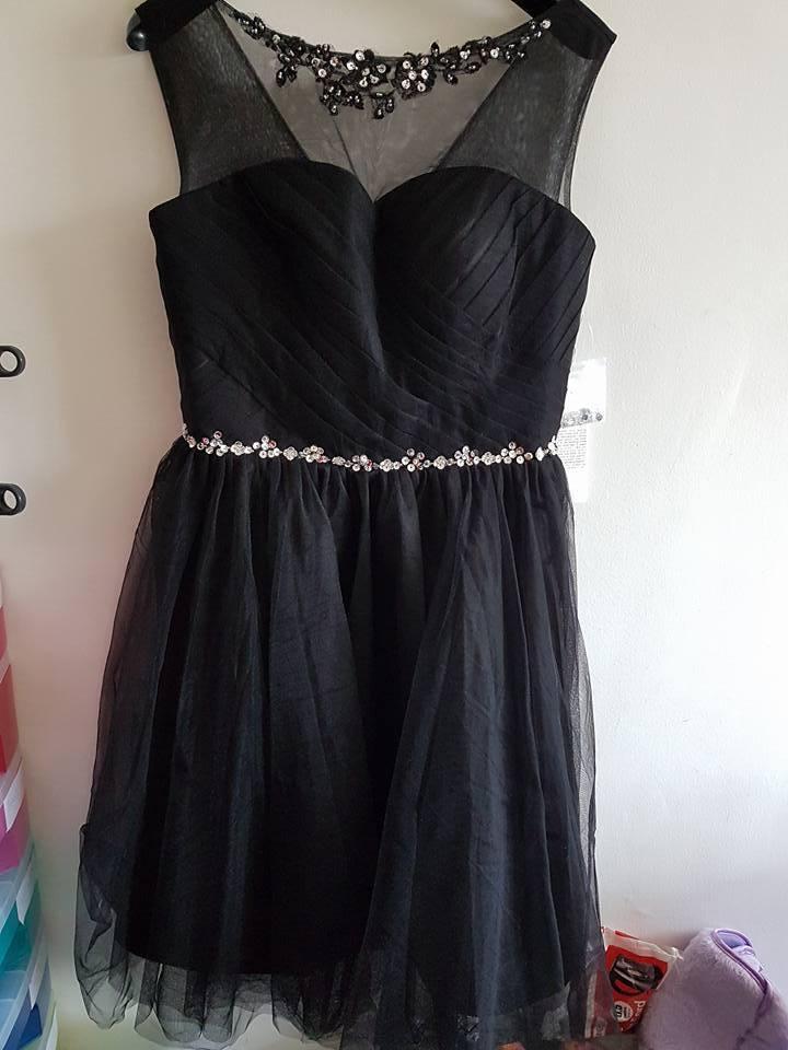 Dressystar - Homecoming Black Short Dress - UK 12