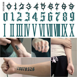 Numbers Verisimilar Finger Wrist Tattoo Art Water Proof Temporary Tattoo Sticker Ebay Here is a great number tattoo that uses different shading techniques to great effect. details about numbers verisimilar finger wrist tattoo art water proof temporary tattoo sticker