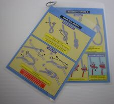 COCKPIT CARD ESSENTIAL KNOTS - ROPE WORK BOAT YACHT - NEW MS10
