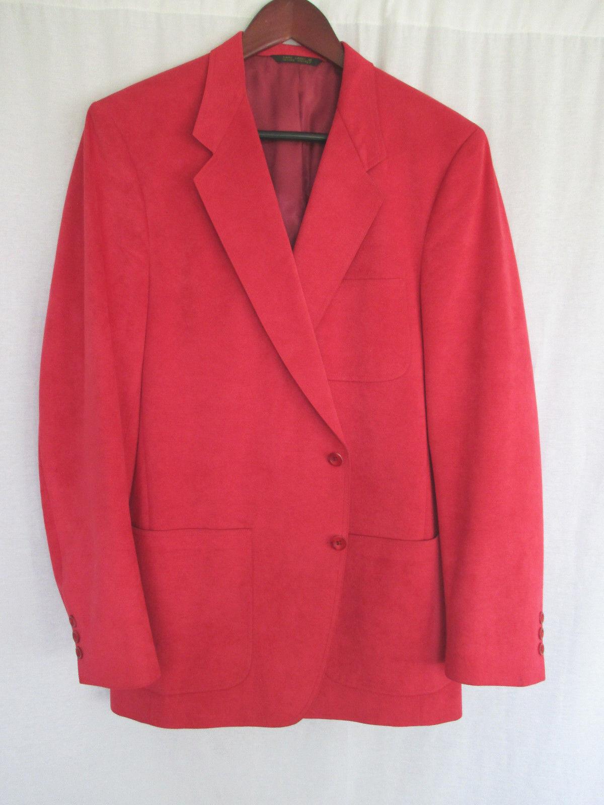 Thos. Stuart  Herren Sport Coat 40/41L Distinguished Carmine ROT Soft Suede