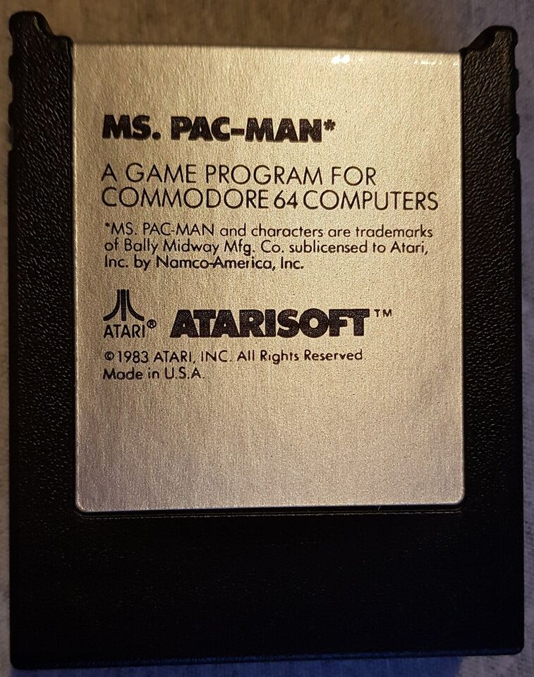 Commodore C64 Mrs. Packman Cartridge Spil, Commodore 64 /