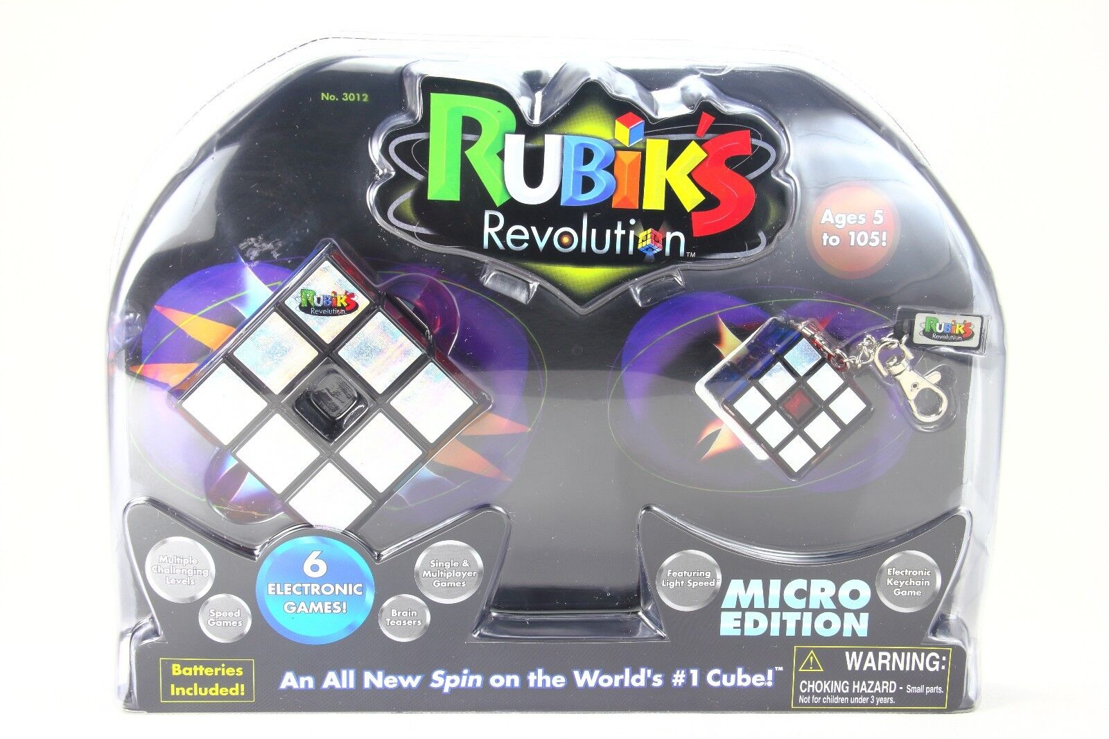 Rubik's Revolution Micro Edition With Electronic Keychain Game