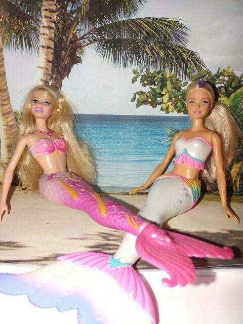 ***SIRENS of the SEA*** Barbie Dreamtopia Mermaids Preowned Mattel Lot of (2)