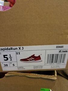 adidas rapidarun red - new in box with tags kids size 5 1/2 or womens size 7