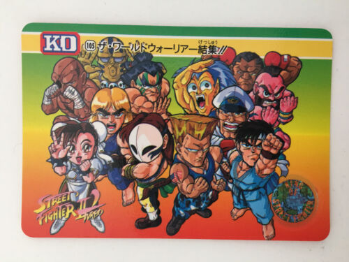 Carddass 105 Street Fighter II/' Turbo KO