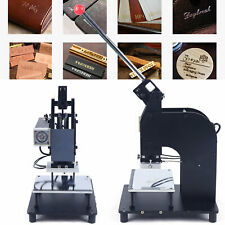 500w Manual Hot Foil Stamping Machine 10x15cm Leather Gold Embossing Logo Press