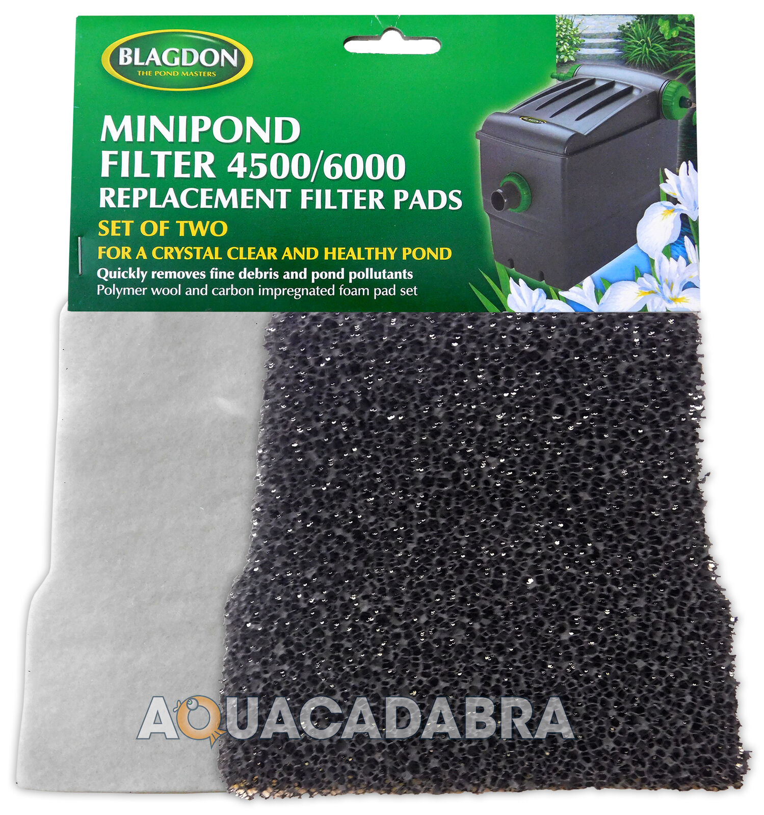 BLAGDON MINI POND FILTER 4500/6000 REPLACEMENT FILTER PADS 2 PACK POLYMER/CARBON