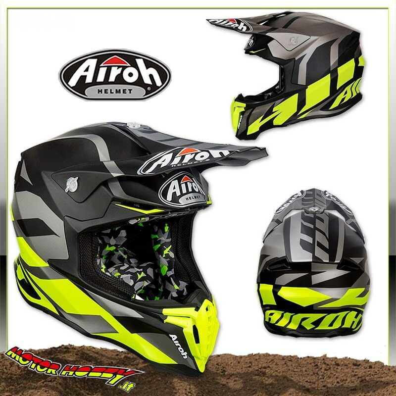 AIROH TWIST ANTHRACITE MATT 2019 CASCO ENDURO MOTO CROSS TAGLIA L