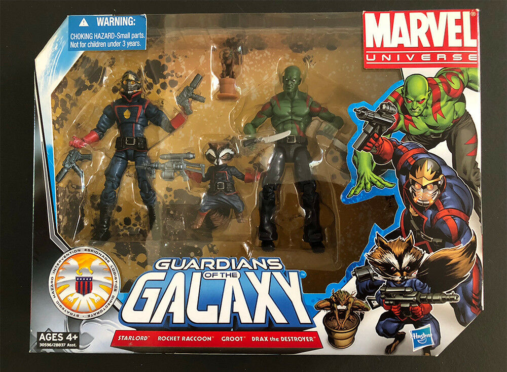Hasbro Marvel Universe GUARDIANS OF THE GALAXY Action Figures Team Set