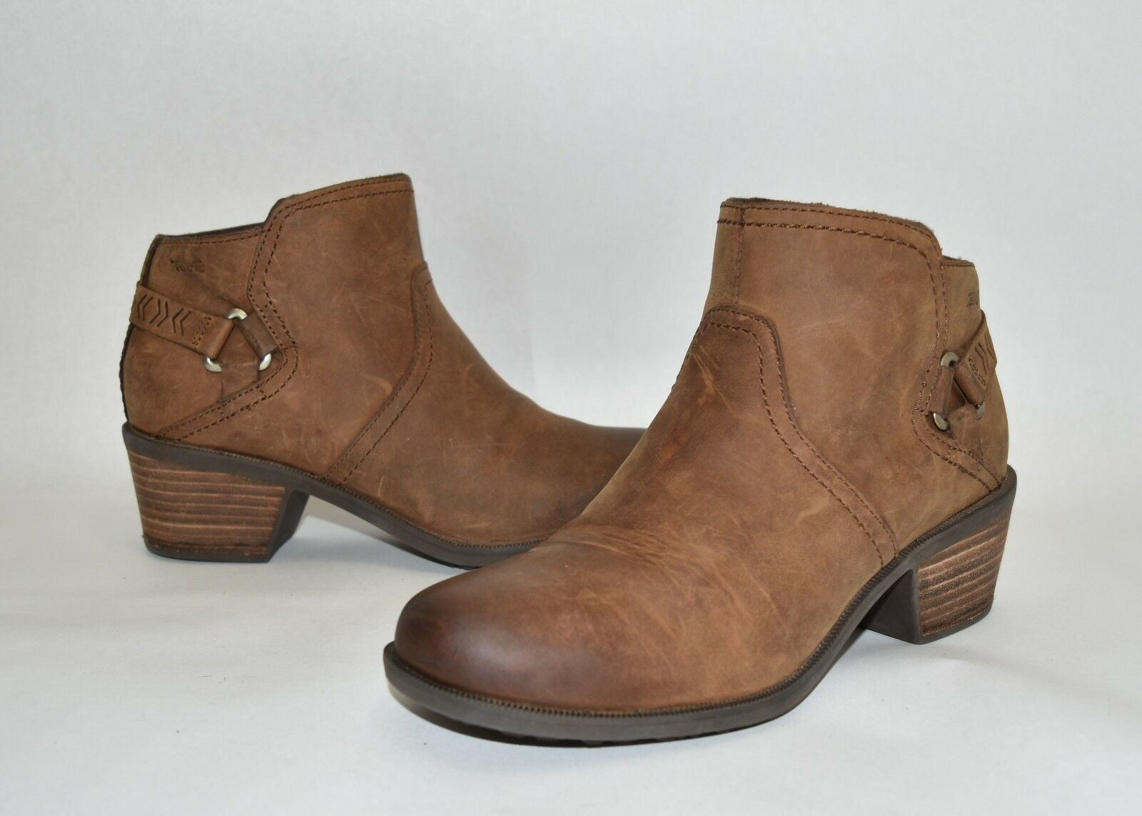 Teva 'Foxy' Bootie Brown Leather Size 7 1017161