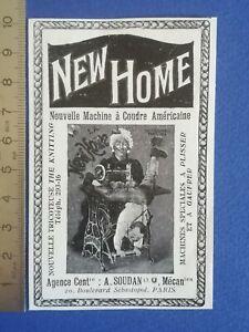PUB-ANCIENNE-ADVERT-CLIPPING-1904-Machine-a-coudre-americaine-New-Home-Paris