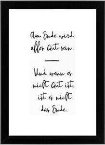 Bild Kunstdruck Spruch Set mit Rahmen 21 x 30 cm A4 Sprüche Poster Geschenk (4)