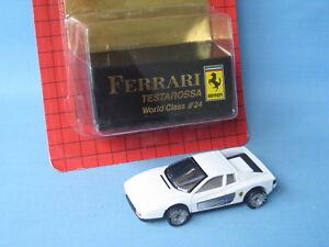 Détails Italien Sur 24 Titre Testarossa Afficher Le D'origine Class Matchbox 75 Voiture World Ferrari Jouet Mm Sport Blanc OXPiuZk