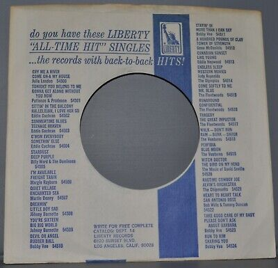 """Storage & Media Accessories 1x 45 Rpm Liberty All Time Hit Company Sleeve Original Record Sleeves 7"""""""