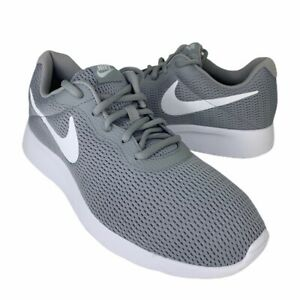 Nike-Mens-Tanjun-Running-Shoes-Gray-Lace-Up-Low-Top-Sneakers-AQ3555-003-8-New
