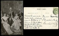 ROYALTY 1907 THREE GENERATIONS KE7 KG5 ALEXANDRA QUEEN MARY KG6 KE8 JOHN etc PPC