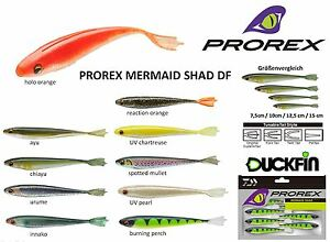 Daiwa Prorex Gummifisch Mermaid Shad DF Reaction Orange