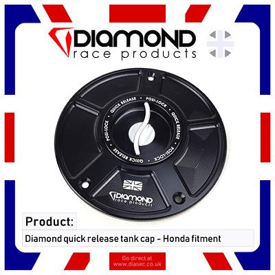 QUICK RELEASE TANK FUEL CAP HONDA FIREBLADE CBR1000RR 2004 04 DIAMOND PRODUCTS